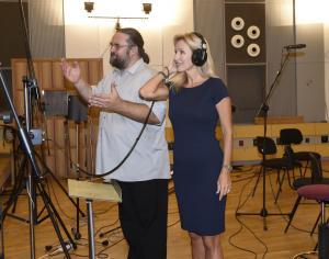 Kateřina s dirigentem Františkem Štěrbákem
