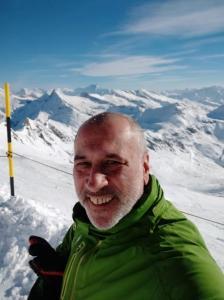 Davidovo selficko na vrcholu Molltalu