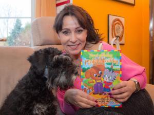Heidi a její Eda čtou Nové přiběhy pejska a kočicky