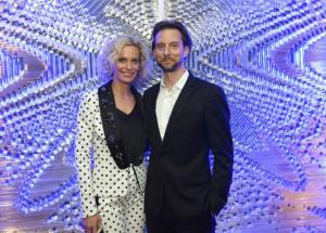 Kristina Kloubková v  kostýmu od Herminy Khalaf Pogosyan s partnerem Václavem Kunešem DSC9380