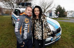 Michal Burkoň - ten nejvyšší z týmu BARTH a Lucie Bílá