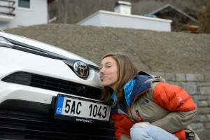 Toyota - předání vozu Evě 1