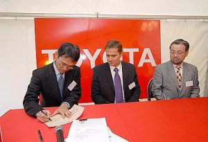 Toyota Slavnostní výkop