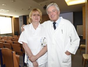 primářka  MUDr. Jana Matějovská a přednsota doc. MUDr. jan Měšťák, CSc.  DSC8503